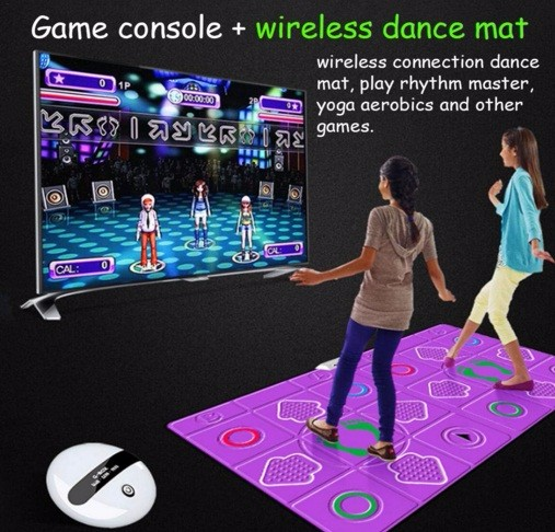 2.4G Wireless Dance Pad with 8GB Memory Card for TV & PC