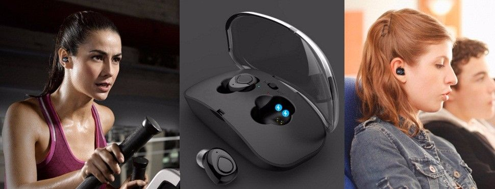 TWS Wireless Bluetooth In-Ear Earbuds Music Hands-Free Earph